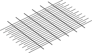 Grid from rods of different diameters